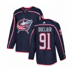 Mens Adidas Columbus Blue Jackets 91 Anthony Duclair Premier Navy Blue Home NHL Jersey