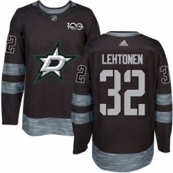 Mens Adidas Dallas Stars 32 Kari Lehtonen Premier Black 1917 2017 100th Anniversary NHL Jersey