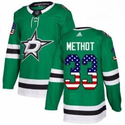 Mens Adidas Dallas Stars 33 Marc Methot Authentic Green USA Flag Fashion NHL Jersey