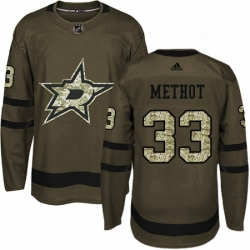 Mens Adidas Dallas Stars 33 Marc Methot Premier Green Salute to Service NHL Jersey