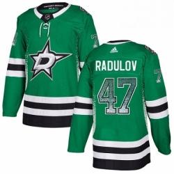 Mens Adidas Dallas Stars 47 Alexander Radulov Authentic Green Drift Fashion NHL Jersey