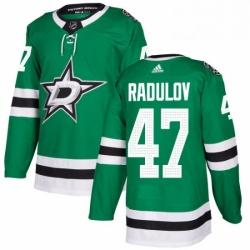 Mens Adidas Dallas Stars 47 Alexander Radulov Authentic Green Home NHL Jersey