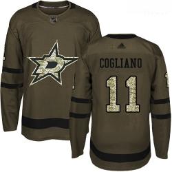 Stars #11 Andrew Cogliano Green Salute to Service Stitched Hockey Jersey