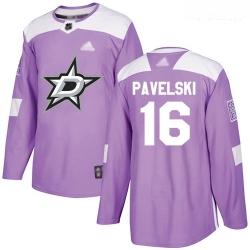 Stars #16 Joe Pavelski Purple Authentic Fights Cancer Youth Stitched Hockey Jersey