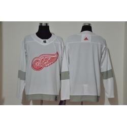 Men Detroit Red Wings Blank White 2020 21 Reverse Retro Adidas Jersey
