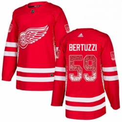 Mens Adidas Detroit Red Wings 59 Tyler Bertuzzi Authentic Red Drift Fashion NHL Jersey
