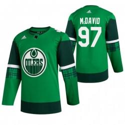 Men Edmonton Oilers 97 Connor McDavid Green 2020 Adidas Jersey