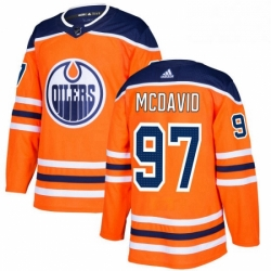 Mens Adidas Edmonton Oilers 97 Connor McDavid Authentic Orange Home NHL Jersey