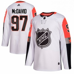 Mens Adidas Edmonton Oilers 97 Connor McDavid Authentic White 2018 All Star Pacific Division NHL Jersey