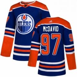 Mens Adidas Edmonton Oilers 97 Connor McDavid Premier Royal Blue Alternate NHL Jersey