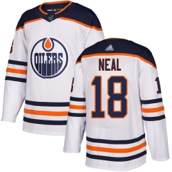 Oilers 18 James Neal White Road Authentic Stitched Hockey Jersey