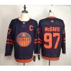 Oilers 97 Connor McDavid Navy 50th Anniversary Adidas Jersey