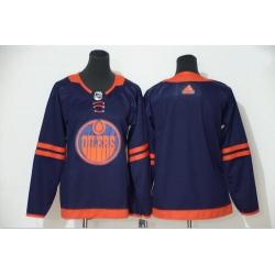 Oilers Blank Navy Women 50th Anniversary Adidas Jersey