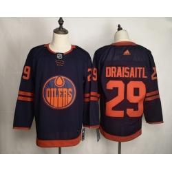 Oilers Leon Draisaitl Navy 50th Anniversary Adidas Jersey