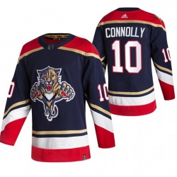 Men Florida Panthers 10 Brett Connolly Black Adidas 2020 21 Reverse Retro Alternate NHL Jersey