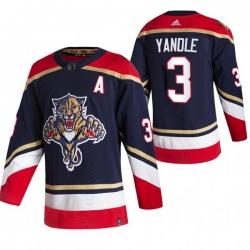 Men Florida Panthers 3 Keith Yandle Black Adidas 2020 21 Reverse Retro Alternate NHL Jersey