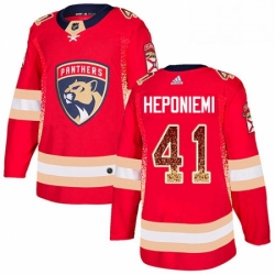 Mens Adidas Florida Panthers 41 Aleksi Heponiemi Authentic Red Drift Fashion NHL Jersey