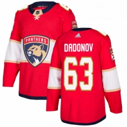 Mens Adidas Florida Panthers 63 Evgenii Dadonov Authentic Red Home NHL Jersey