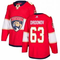 Mens Adidas Florida Panthers 63 Evgenii Dadonov Premier Red Home NHL Jersey