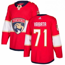 Mens Adidas Florida Panthers 71 Radim Vrbata Premier Red Home NHL Jersey