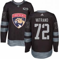 Mens Adidas Florida Panthers 72 Frank Vatrano Authentic Black 1917 2017 100th Anniversary NHL Jersey