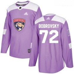 Panthers #72 Sergei Bobrovsky Purple Authentic Fights Cancer Stitched Hockey Jersey