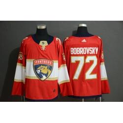 Panthers 72 Sergei Bobrovsky Red Adidas Jersey