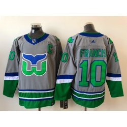 Men Hartford Whalers Ron Franci 10 Adidas 2020 21 Reverse Retro Alternate NHL Jersey