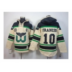 NHL Jerseys Hartford Whalers #10 Francis Black-Cream[Pullover Hooded Sweatshirt Patch C]