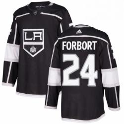 Mens Adidas Los Angeles Kings 24 Derek Forbort Authentic Black Home NHL Jersey