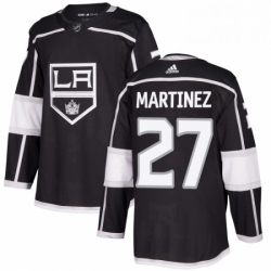 Mens Adidas Los Angeles Kings 27 Alec Martinez Premier Black Home NHL Jersey