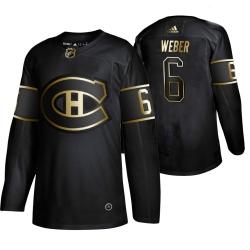 Canadiens 6 Shea Weber Black Gold Adidas Jersey