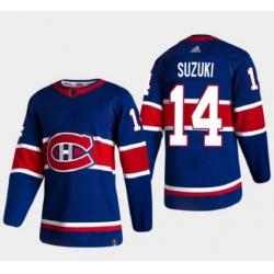 Men Canadiens Nick Suzuki Adidas Reverse Retro Jersey