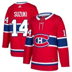 Men Montreal Canadiens 14 Nick Suzuki Red Adidas Jersey
