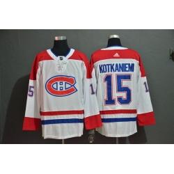 Men Montreal Canadiens 15 Jesperi Kotkaniemi White Adidas Jersey