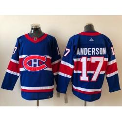 Men Montreal Canadiens Josh Anderson 17 2020 21 Reverse Retro Alternate NHL Jersey