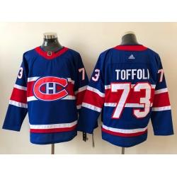Men Montreal Canadiens Tyler Toffoli 73 2020 21 Reverse Retro Alternate NHL Jersey