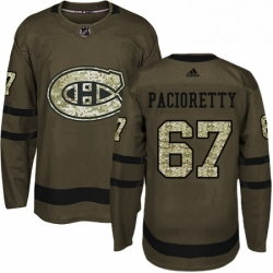 Mens Adidas Montreal Canadiens 67 Max Pacioretty Authentic Green Salute to Service NHL Jersey