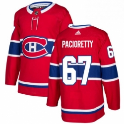 Mens Adidas Montreal Canadiens 67 Max Pacioretty Authentic Red Home NHL Jersey