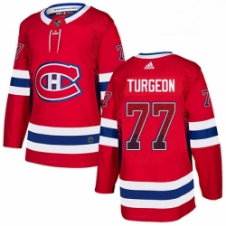Mens Adidas Montreal Canadiens 77 Pierre Turgeon Authentic Red Drift Fashion NHL Jersey