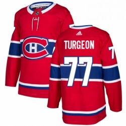 Mens Adidas Montreal Canadiens 77 Pierre Turgeon Premier Red Home NHL Jersey