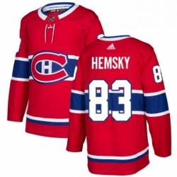 Mens Adidas Montreal Canadiens 83 Ales Hemsky Premier Red Home NHL Jersey