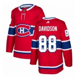 Mens Adidas Montreal Canadiens 88 Brandon Davidson Authentic Red Home NHL Jersey