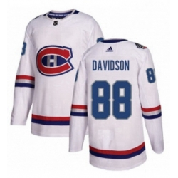 Mens Adidas Montreal Canadiens 88 Brandon Davidson Authentic White 2017 100 Classic NHL Jersey