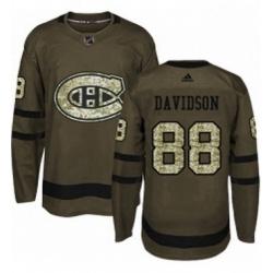Mens Adidas Montreal Canadiens 88 Brandon Davidson Premier Green Salute to Service NHL Jersey
