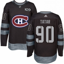 Mens Adidas Montreal Canadiens 90 Tomas Tatar Authentic Black 1917 2017 100th Anniversary NHL Jersey