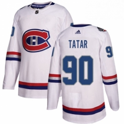 Mens Adidas Montreal Canadiens 90 Tomas Tatar Authentic White 2017 100 Classic NHL Jersey