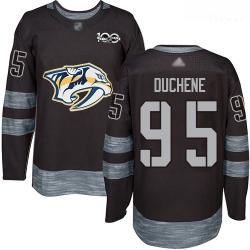 Predators #95 Matt Duchene Black 1917 2017 100th Anniversary Stitched Hockey Jersey