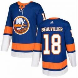 Men New York Islanders 18 Anthony Beauvillier Royal Adidas Jersey