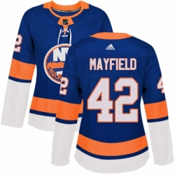 Womens Adidas New York Islanders 42 Scott Mayfield Authentic Royal Blue Home NHL Jersey
